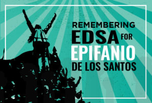 Remembering EDSA for Epifanio de los Santos