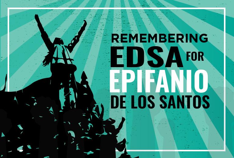 Remembering EDSA for Epifanio de los Santos