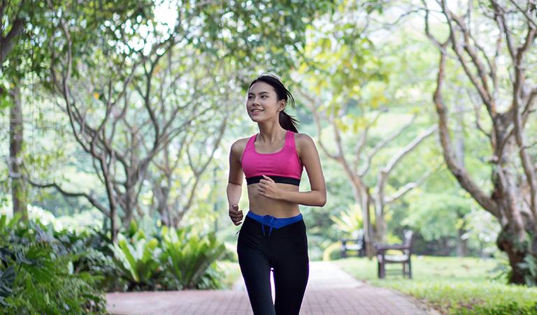 Jogging in Makati